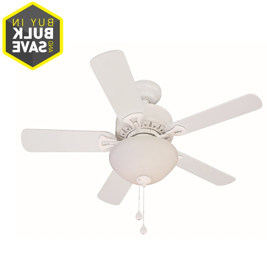 Widely Used Shop Harbor Breeze Classic 36 In White Indoor Ceiling Fan With Light In 36 Inch Outdoor Ceiling Fans With Light Flush Mount (View 6 of 20)