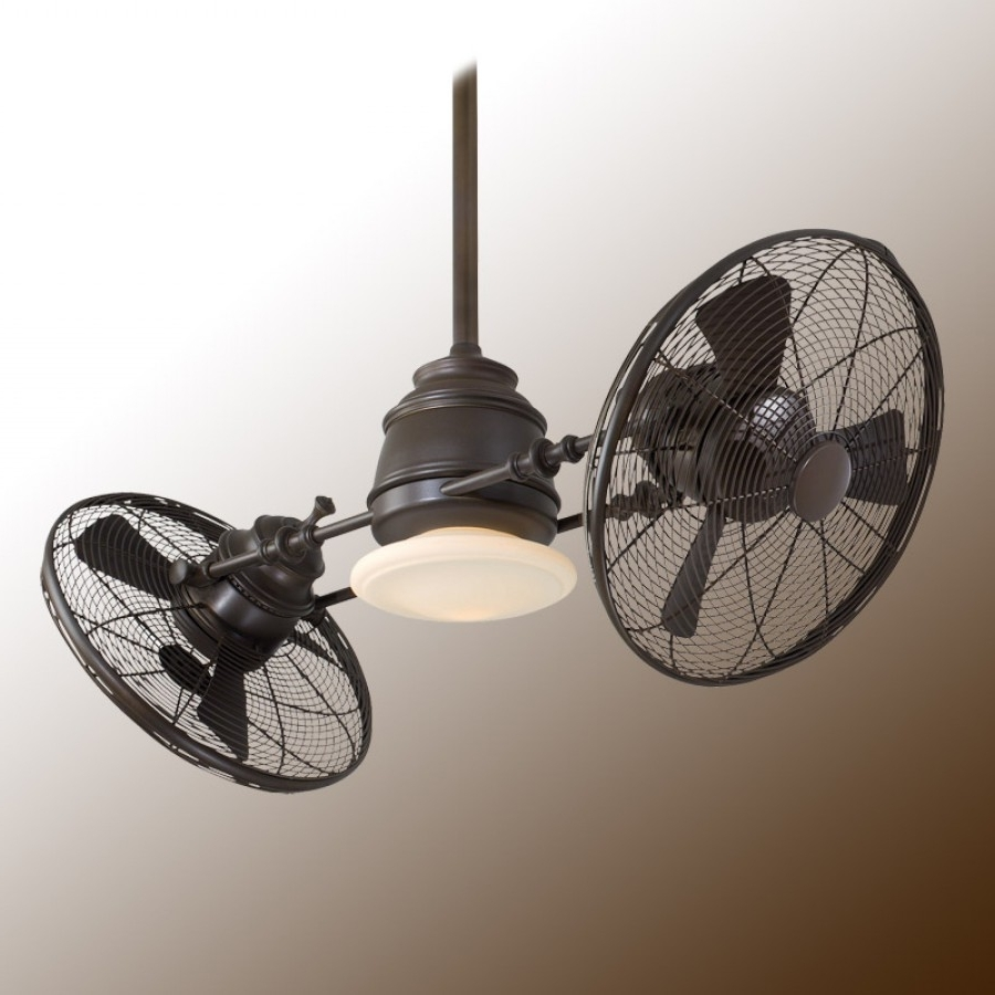 Widely Used Vintage Gyro Ceiling Fanminka Aire Fan – F802 Orb Oil Rubbed Bronze With Regard To Outdoor Caged Ceiling Fans With Light (View 15 of 20)