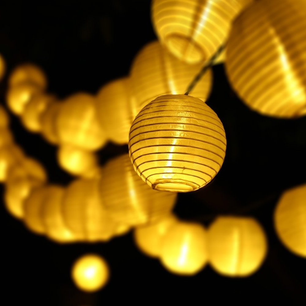 Widely Used Yellow Outdoor Lanterns With Christmas Solar Lights Led Lantern Lights, (View 12 of 20)