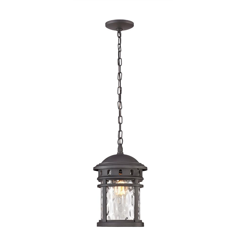 Xl Outdoor Lanterns With Regard To 2019 Outdoor Hanging Lights – Outdoor Ceiling Lighting – The Home Depot (View 20 of 20)