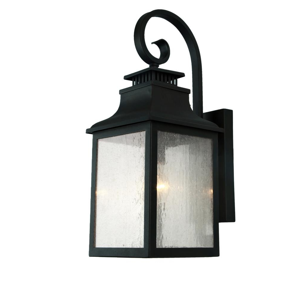 Y Decor Morgan 2 Light Imperial Black Outdoor Wall Mount Lantern With Recent Outdoor Lanterns Decors (View 7 of 20)
