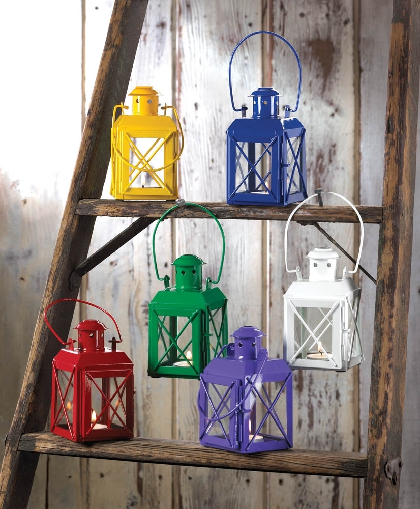 Yellow Outdoor Lanterns For Well Liked Yellow Railway Candle Lantern Lamp Wholesale At Eastwind Wholesale (View 18 of 20)