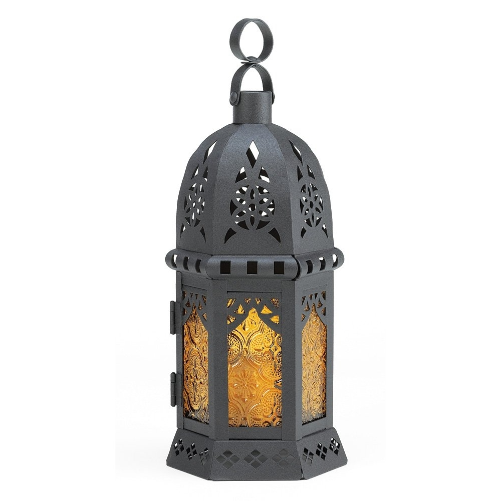 Yellow Outdoor Lanterns In Most Recent Moroccan Lantern Decor, Yellow Glass Decorative Outdoor Lanterns For (View 19 of 20)