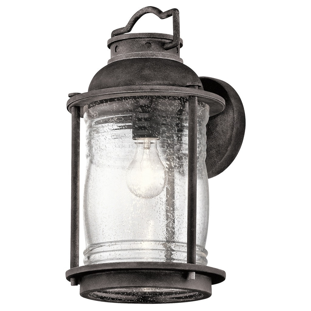 Zinc Outdoor Lanterns Within 2019 Shop Kichler Lighting Ashland Bay Collection 1 Light Weathered Zinc (View 16 of 20)