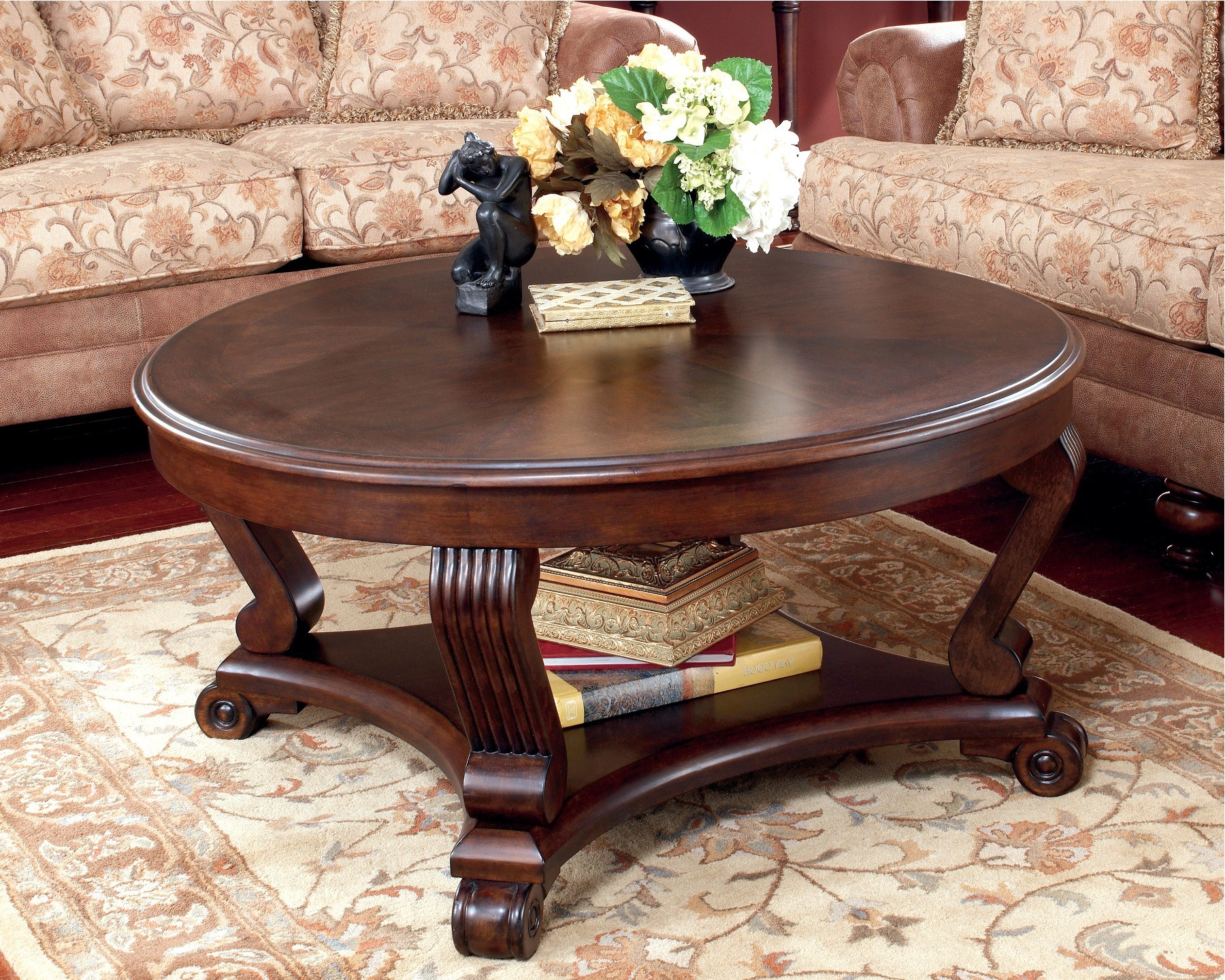 19 Round Coffee Table Design Collection For Complete Furniture Inside Most Current Round Carved Wood Coffee Tables (View 1 of 20)