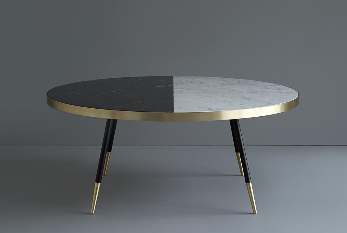 2 Tone Grey And White Marble Coffee Tables Inside Popular Band Two Tone Coffee Table (View 3 of 20)