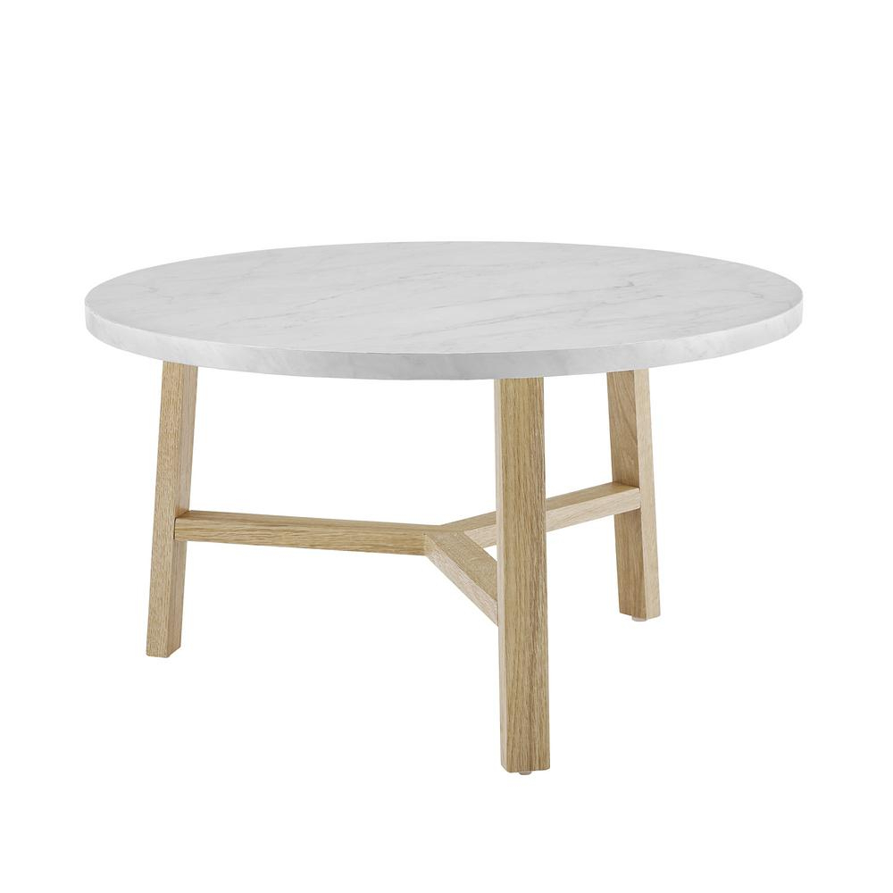 2 Tone Grey And White Marble Coffee Tables With Regard To Well Liked Walker Edison Furniture Company 30 In (View 6 of 20)