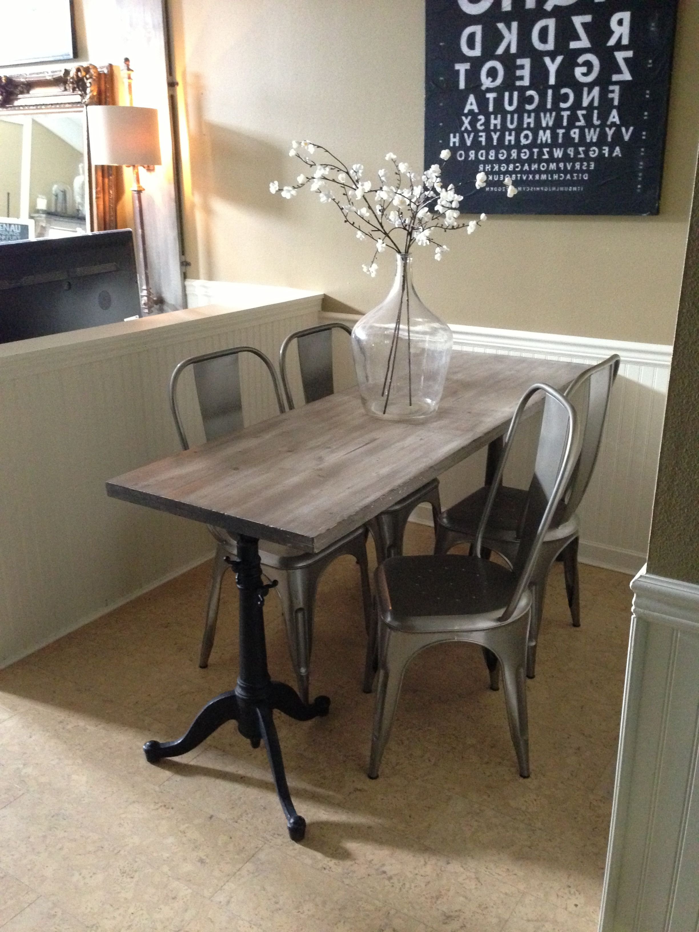 2018 33 Inch Industrial Round Tables For Narrow Dining Table For Narrow Space (View 13 of 20)