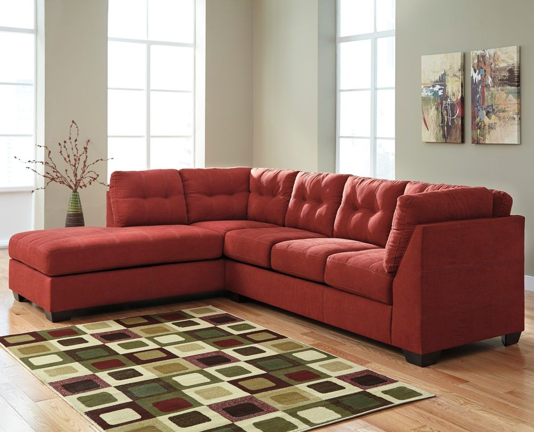 2018 Ashley Furniture Maier 2 Piece Sectional In Sienna With Raf Chaise Pertaining To Aspen 2 Piece Sleeper Sectionals With Laf Chaise (View 6 of 20)