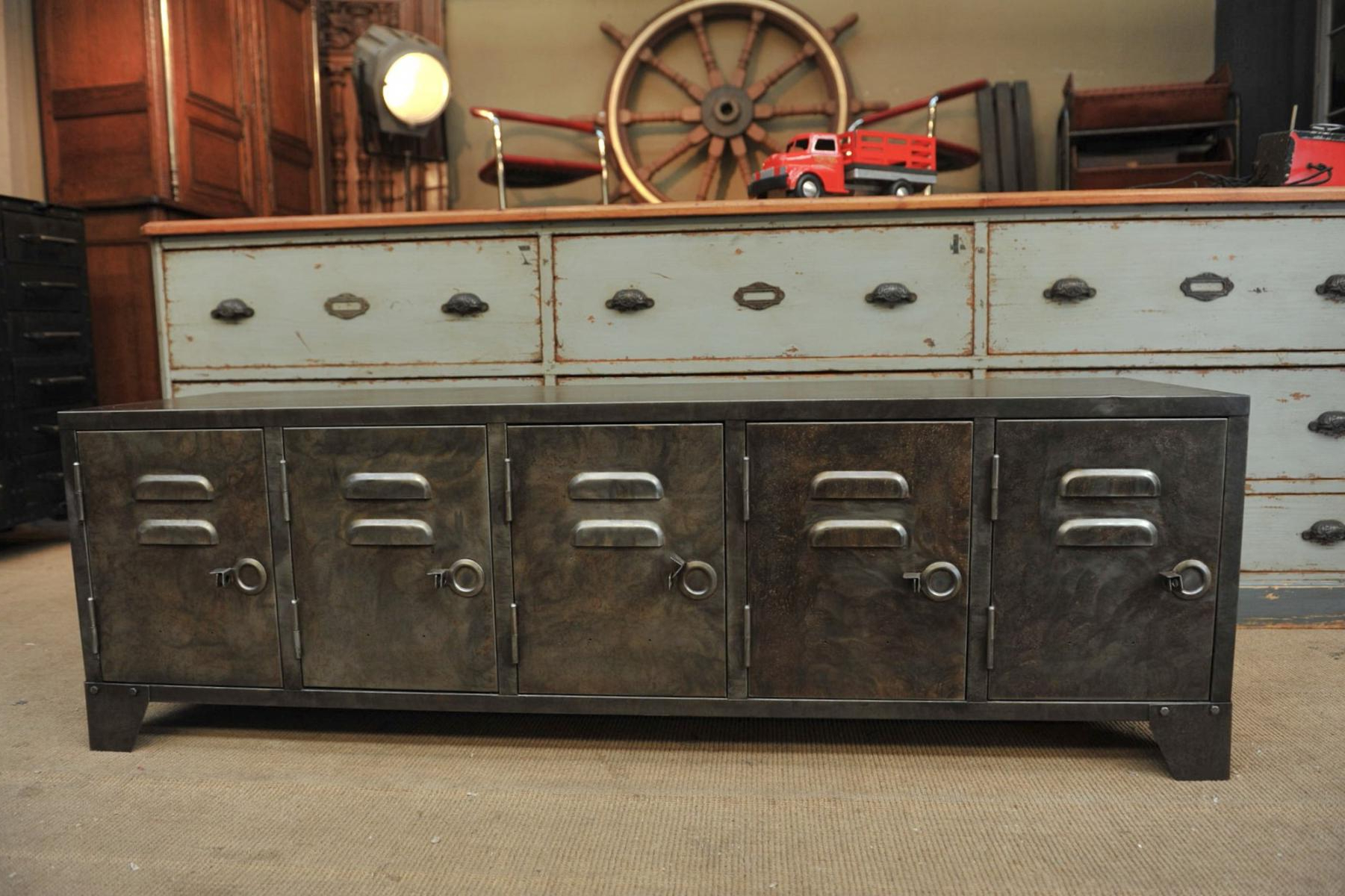 2018 Best Industrial Sideboard Ideas — Rocket Uncle Rocket Uncle In Reclaimed Pine & Iron 72 Inch Sideboards (View 2 of 20)