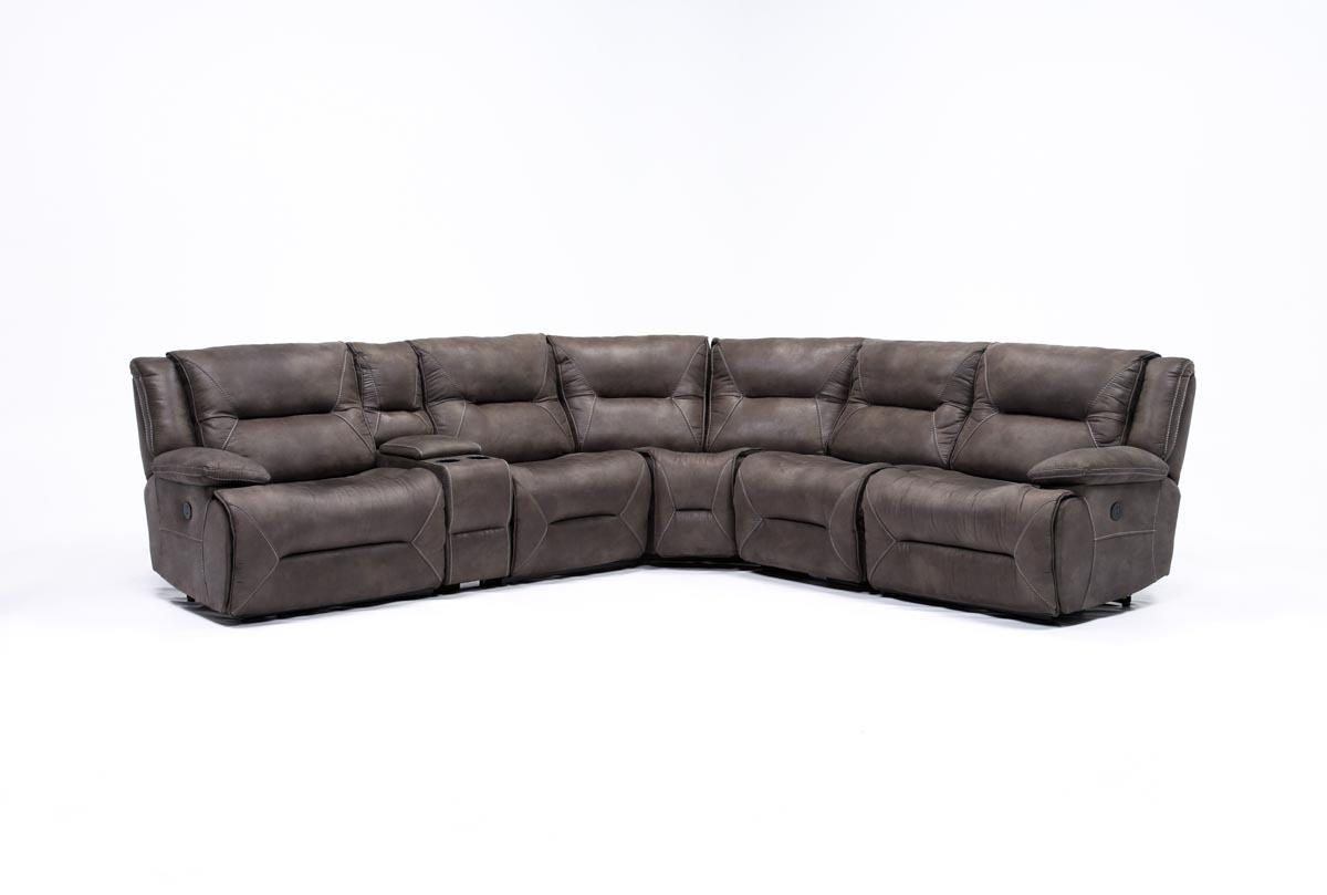 2018 Calder Grey 6 Piece Power Reclining Sectional (Gallery 2 of 20)