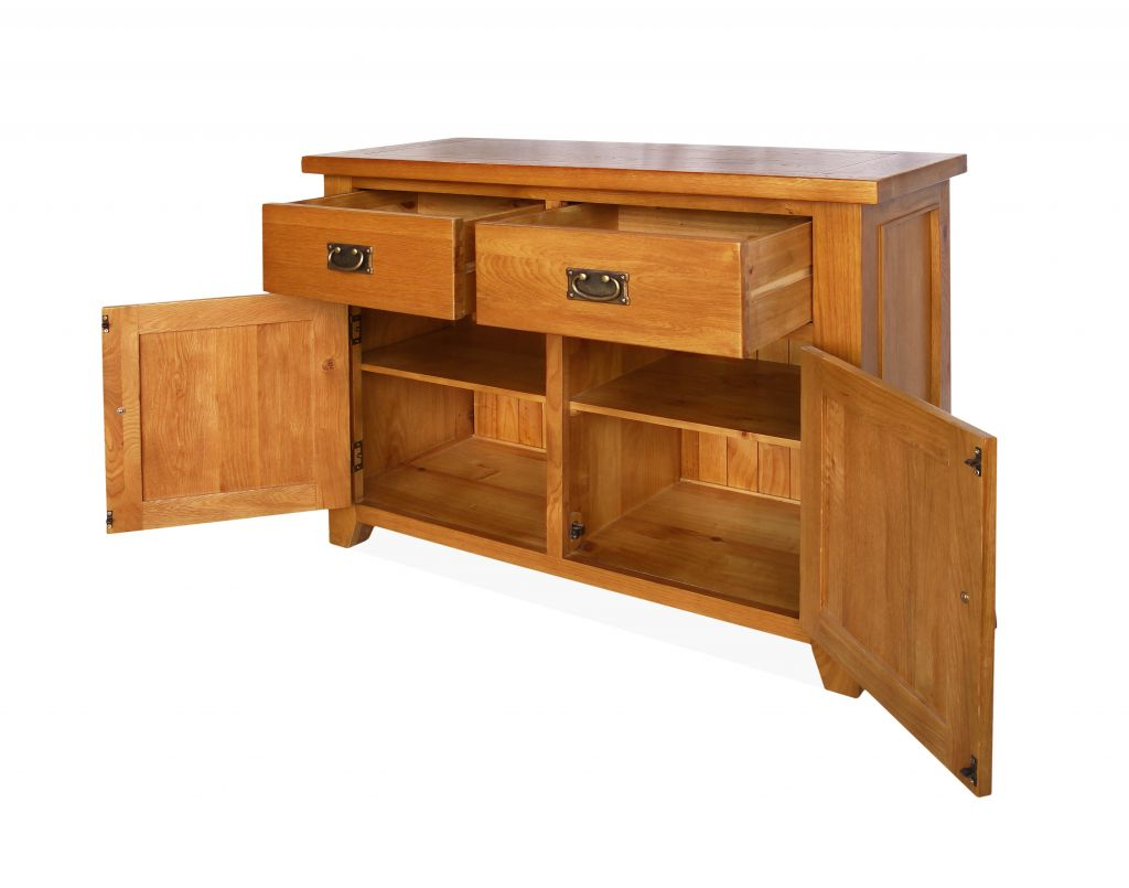 2018 Canterbury Oak Small Sideboard With 2 Doors And 2 Drawers Intended For 2 Drawer Sideboards (View 6 of 20)