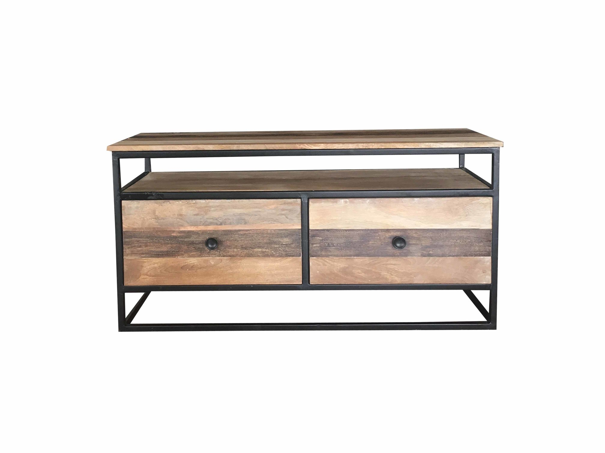 2018 Industrial Reclaimed Mango Wood Tv Stand/media Unit/coffee Table Pertaining To Metal Framed Reclaimed Wood Sideboards (View 1 of 20)