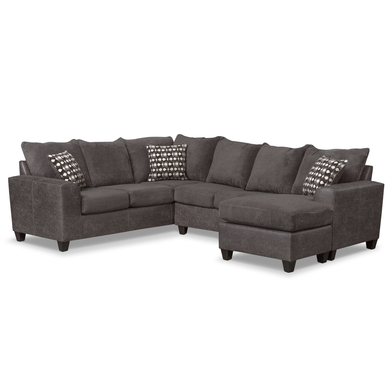 2018 Lucy Grey 2 Piece Sectionals With Laf Chaise In Sleeper Sectional With Chaise – Tidex (View 2 of 20)