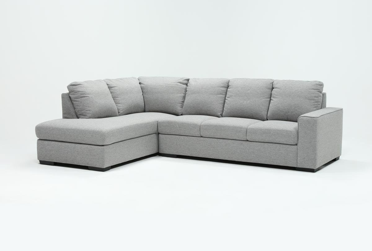 2018 Lucy Grey 2 Piece Sleeper Sectionals With Raf Chaise Regarding Lucy Grey 2 Piece Sleeper Sectional W/raf Chaise (View 3 of 20)