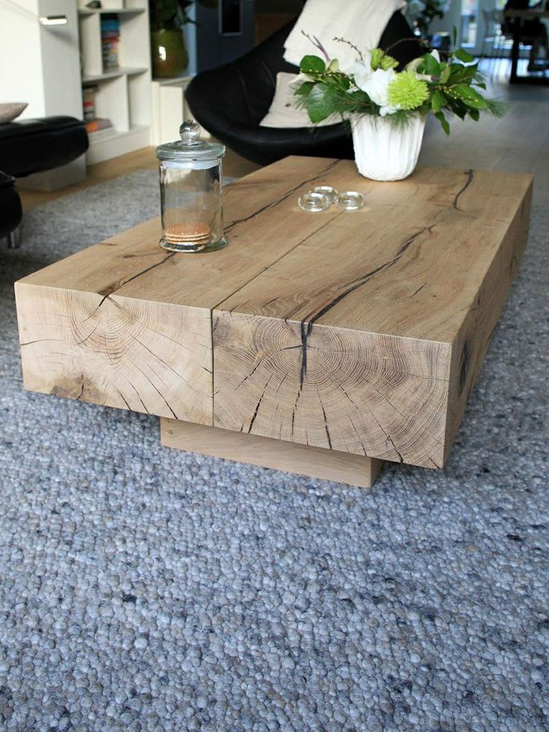 2018 Mill Large Coffee Tables Intended For 15 Wooden Tables Bring The Natural Touch Inside (View 1 of 20)