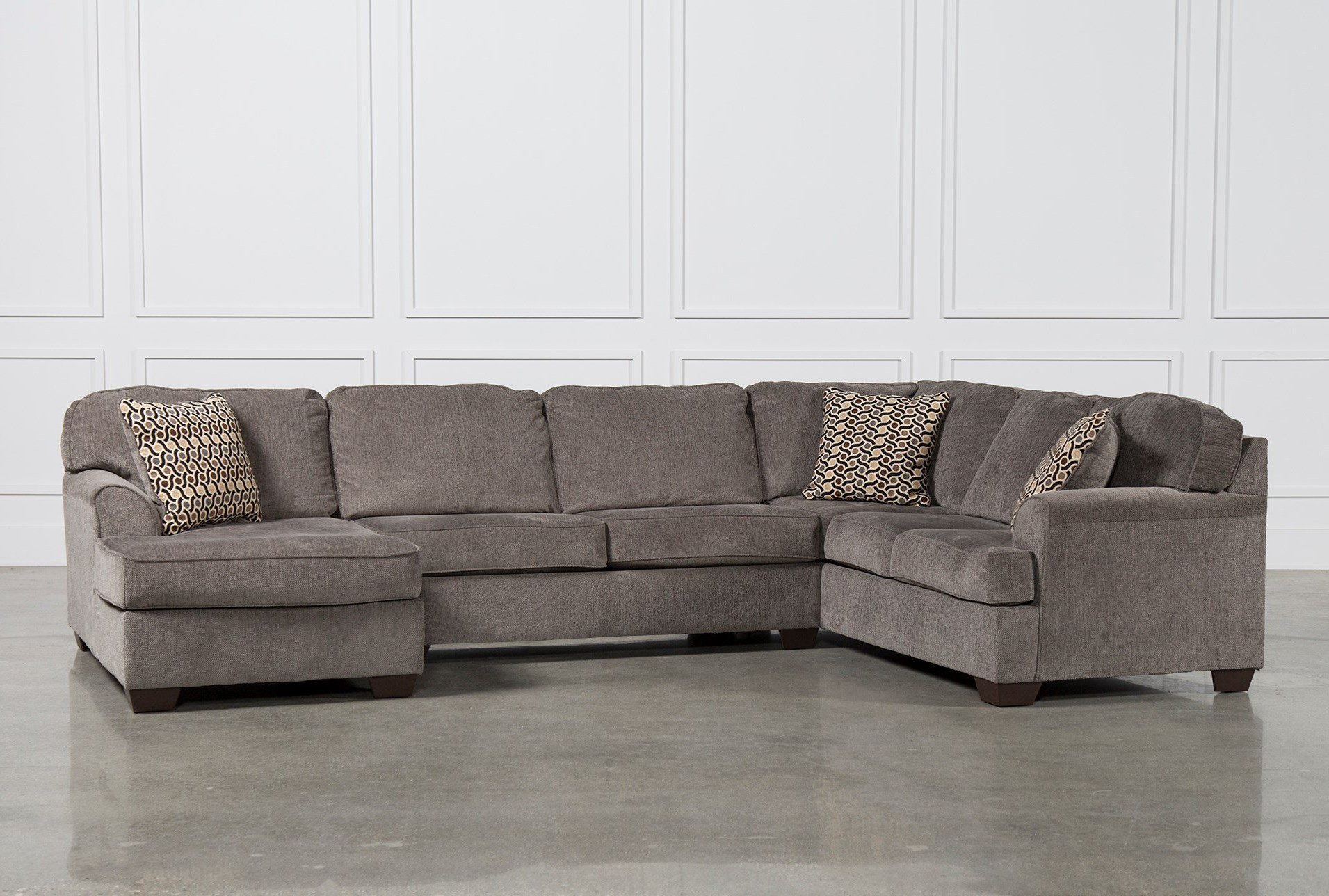 2018 Norfolk Grey 3 Piece Sectionals With Laf Chaise With Regard To Shop For Loric Smoke 3 Piece Sectional W/raf Chaise At Livingspaces (View 1 of 20)