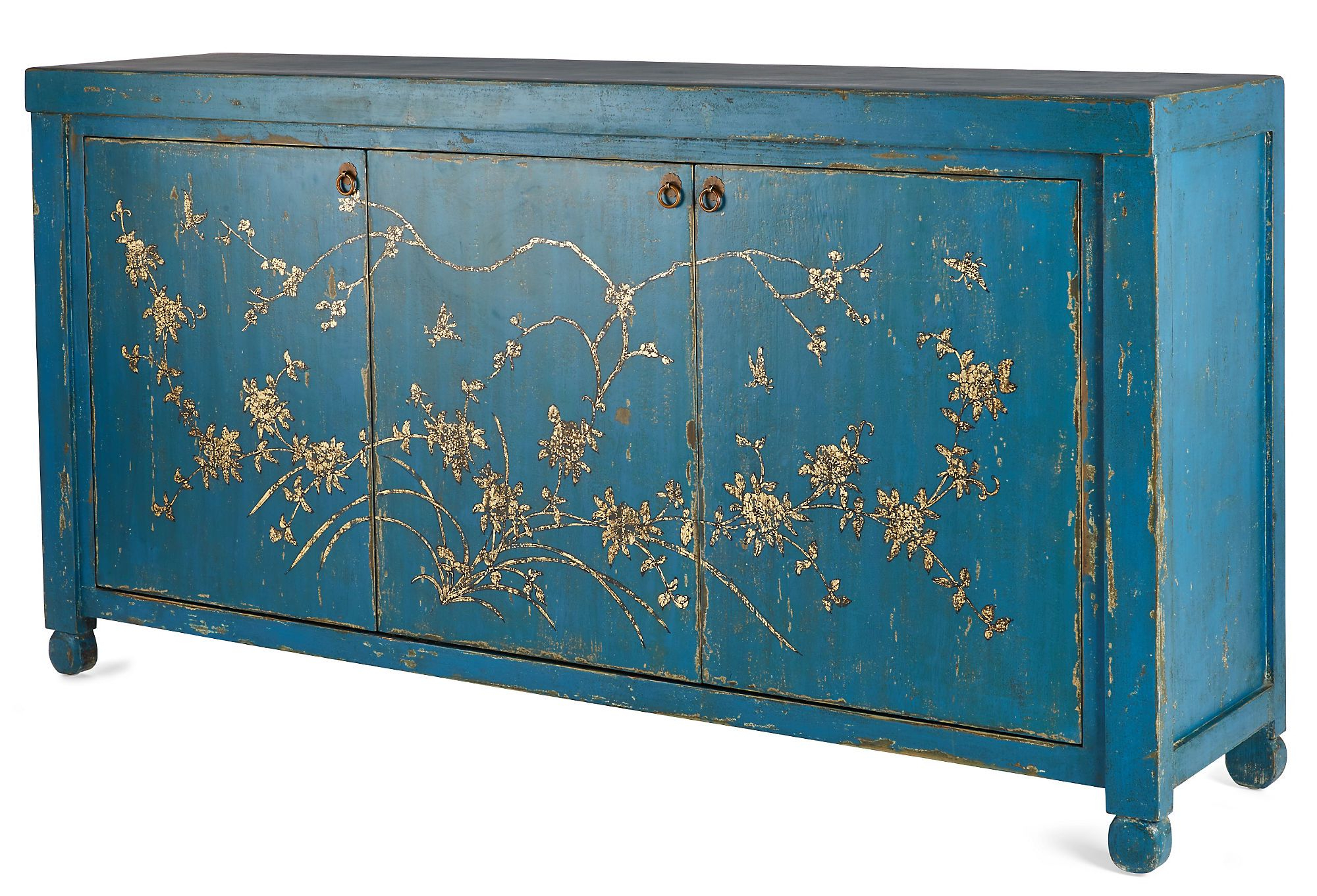2018 Rustic Black & Zebra Pine Sideboards With Jago Sideboard, Bluemadera Home – Chinoiserie Painted Console (Gallery 5 of 20)