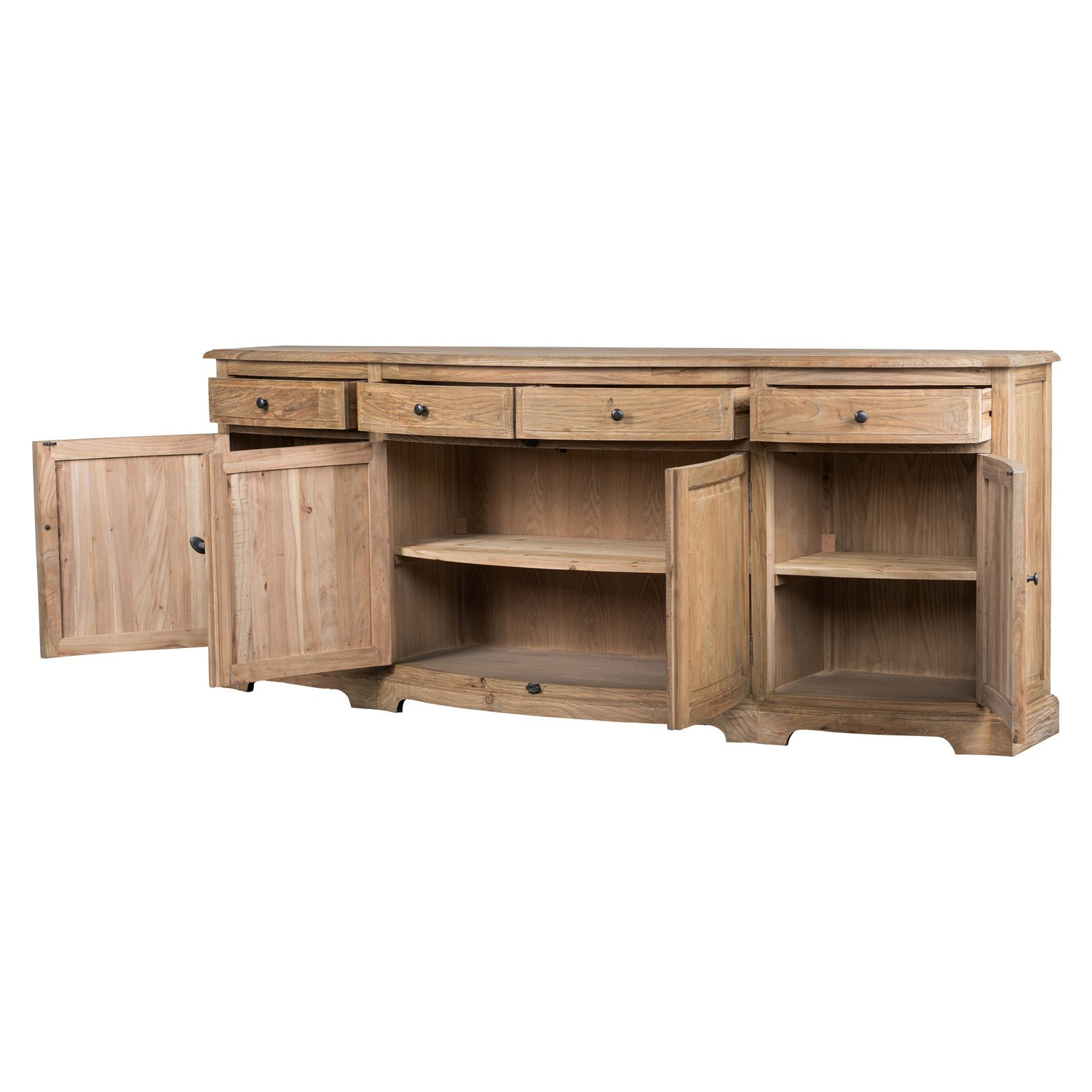 2018 Shop Benjamin Reclaimed Wood Natural 87 Inch Sideboardkosas Home Regarding Natural Oak Wood 78 Inch Sideboards (View 1 of 20)