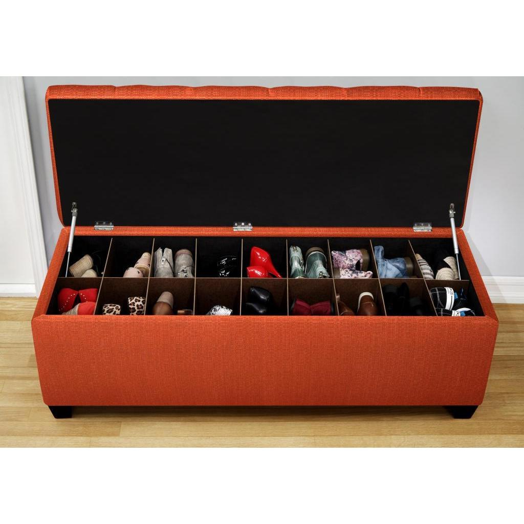 2018 Shop The Sole Candice Pumpkin Secret Shoe Storage Bench – On Sale Inside Candice Ii Storage Cocktail Tables (View 17 of 20)