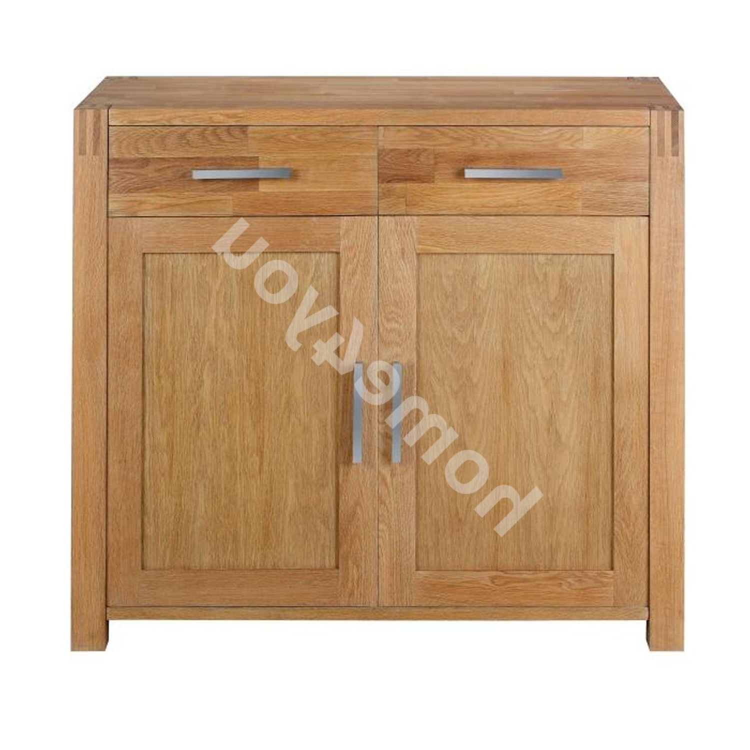 2018 Sideboard Chicago With 2 Doors And 2 Drawers, 97X44Xh86Cm, Wood: Oak,  Color: Natural, Finish: Oiled Inside Natural Oak Wood 2 Door Sideboards (View 2 of 20)