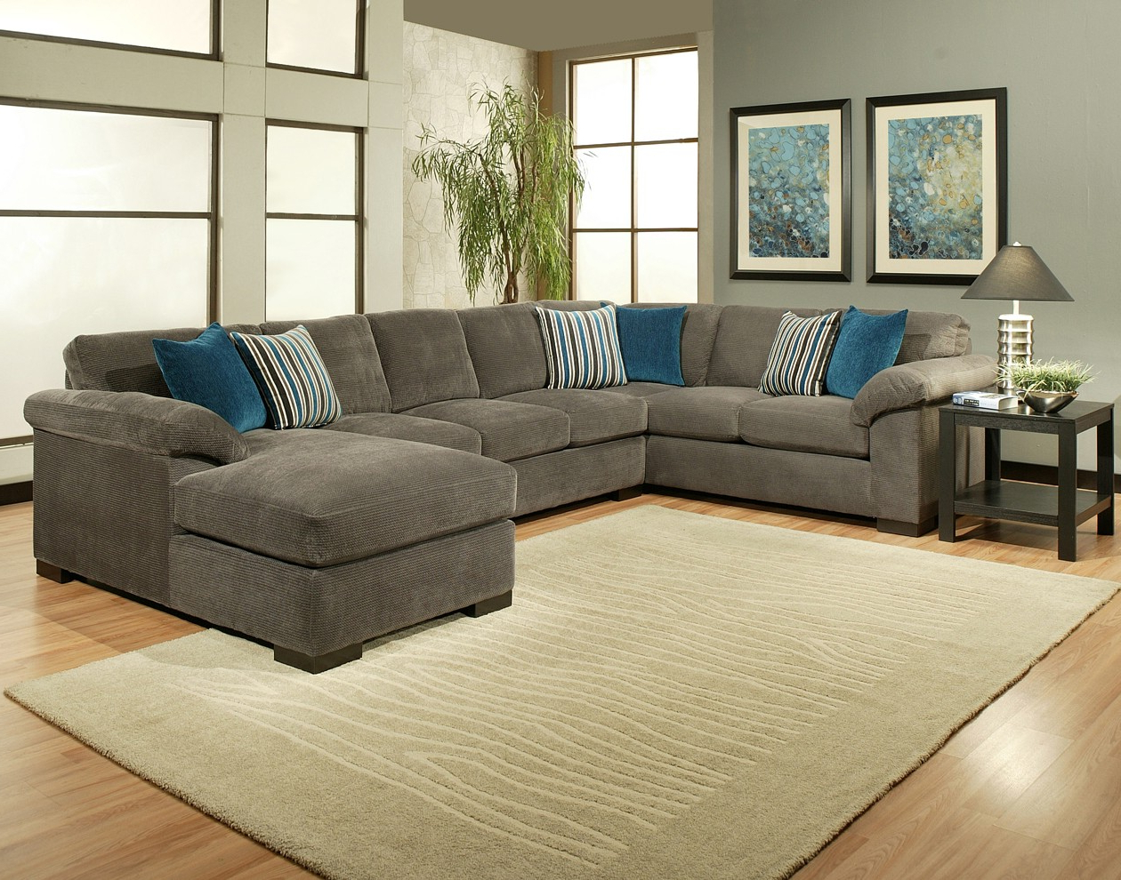 2018 Sierra Down 3 Piece Sectionals With Laf Chaise In Comfort Industries 3 Pc Fire Fly Sectional Sofa (View 1 of 20)