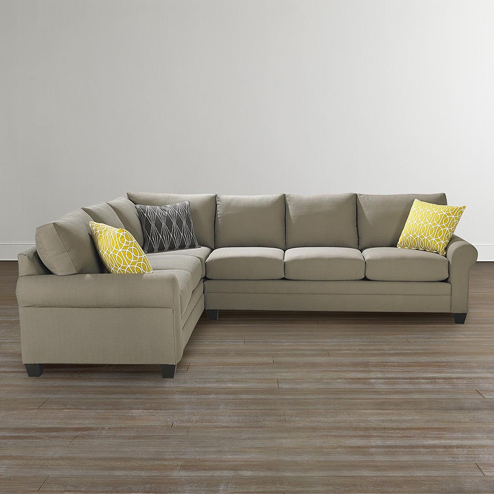 2018 Sierra Down 3 Piece Sectionals With Laf Chaise Regarding Cu (View 2 of 20)