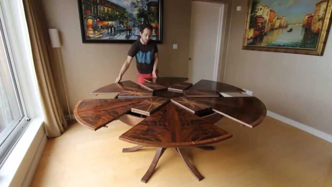 2018 Spin Rotating Coffee Tables With Ingenious Table Expands When You Turn It (View 3 of 20)