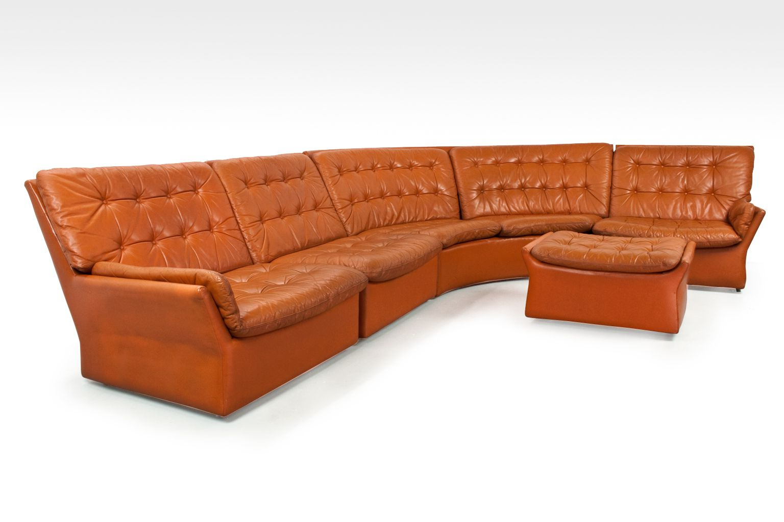 2018 Travis Cognac Leather 6 Piece Power Reclining Sectionals With Power Headrest & Usb With Cognac Leather Sectional – Tidex (View 14 of 20)