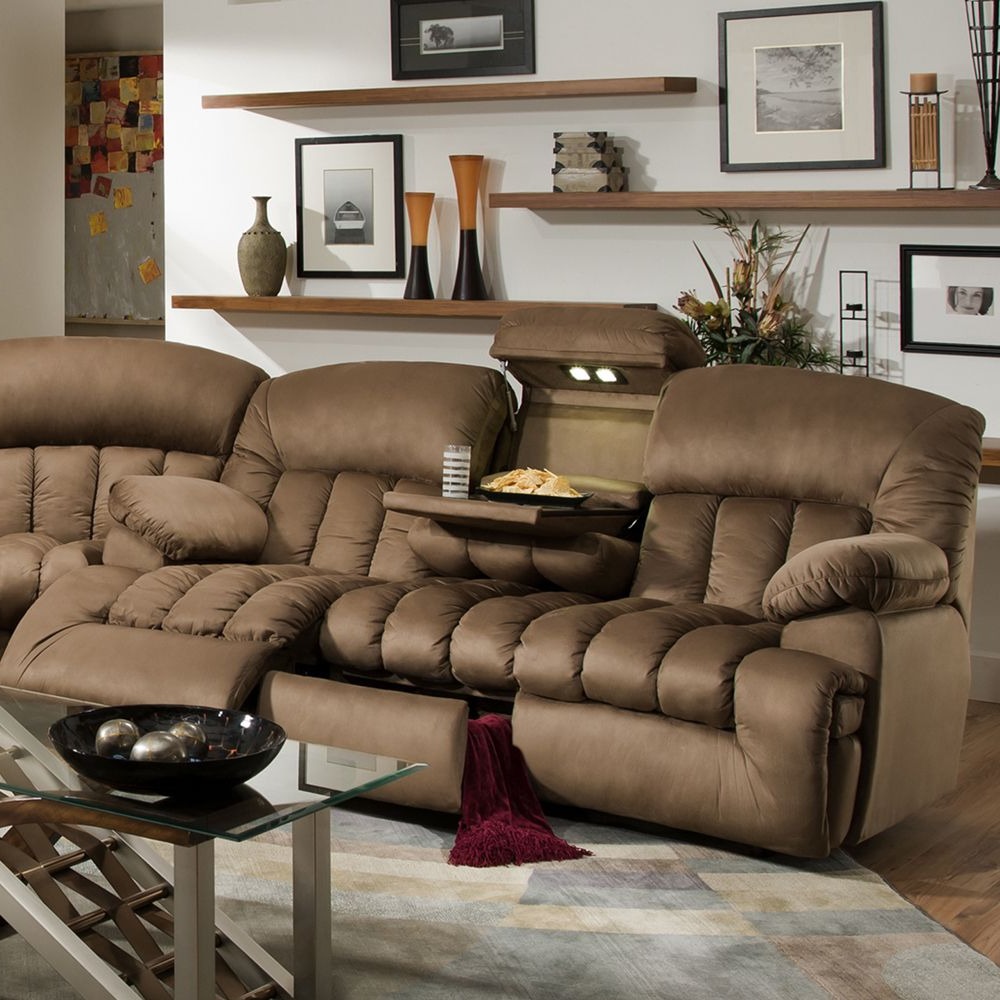2018 Travis Dk Grey Leather 6 Piece Power Reclining Sectionals With Power Headrest & Usb With Regard To This Gorgeous, Comfortable, Dual Reclining Sofa Features Lights (View 1 of 20)
