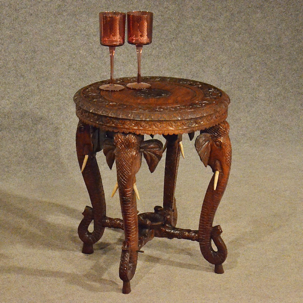 2019 Antiqued Art Deco Coffee Tables Throughout Antique Elephant Table Lamp Wine Side Vintage Art Deco Quality (View 13 of 20)