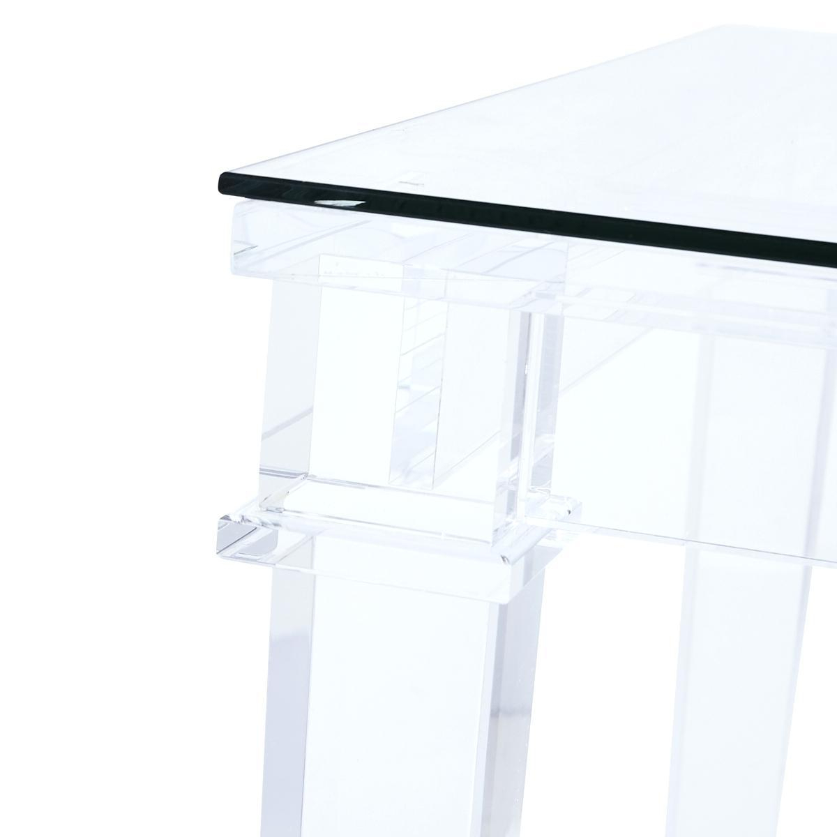 2019 Arresting Small Acrylic Side Table Small Acrylic Side Table Salvage With Regard To Stately Acrylic Coffee Tables (View 1 of 20)