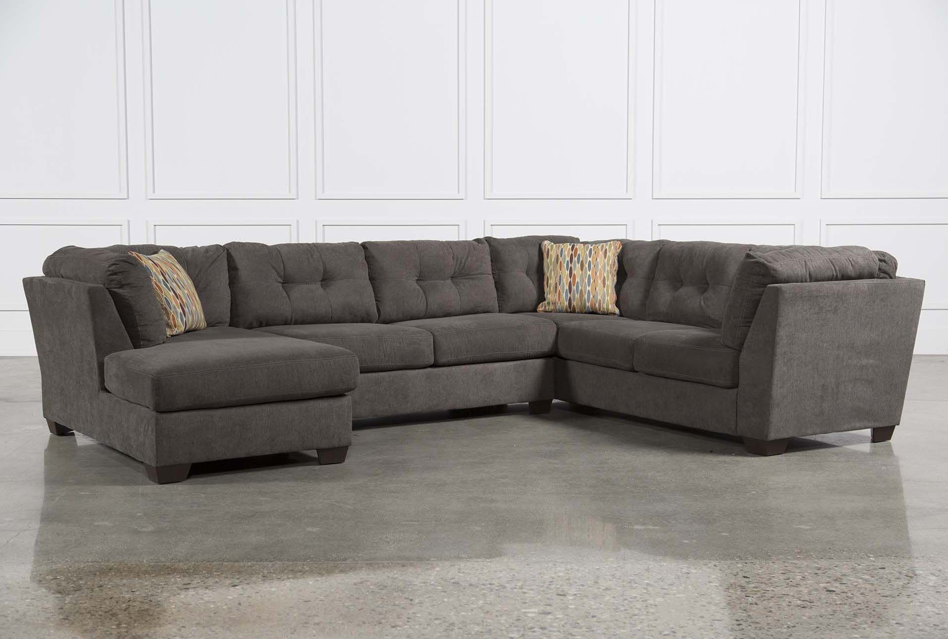 2019 Ashley Sectional W/sleeper & Right Facing Chaise, Delta City Steel 3 For Harper Down 3 Piece Sectionals (View 4 of 20)