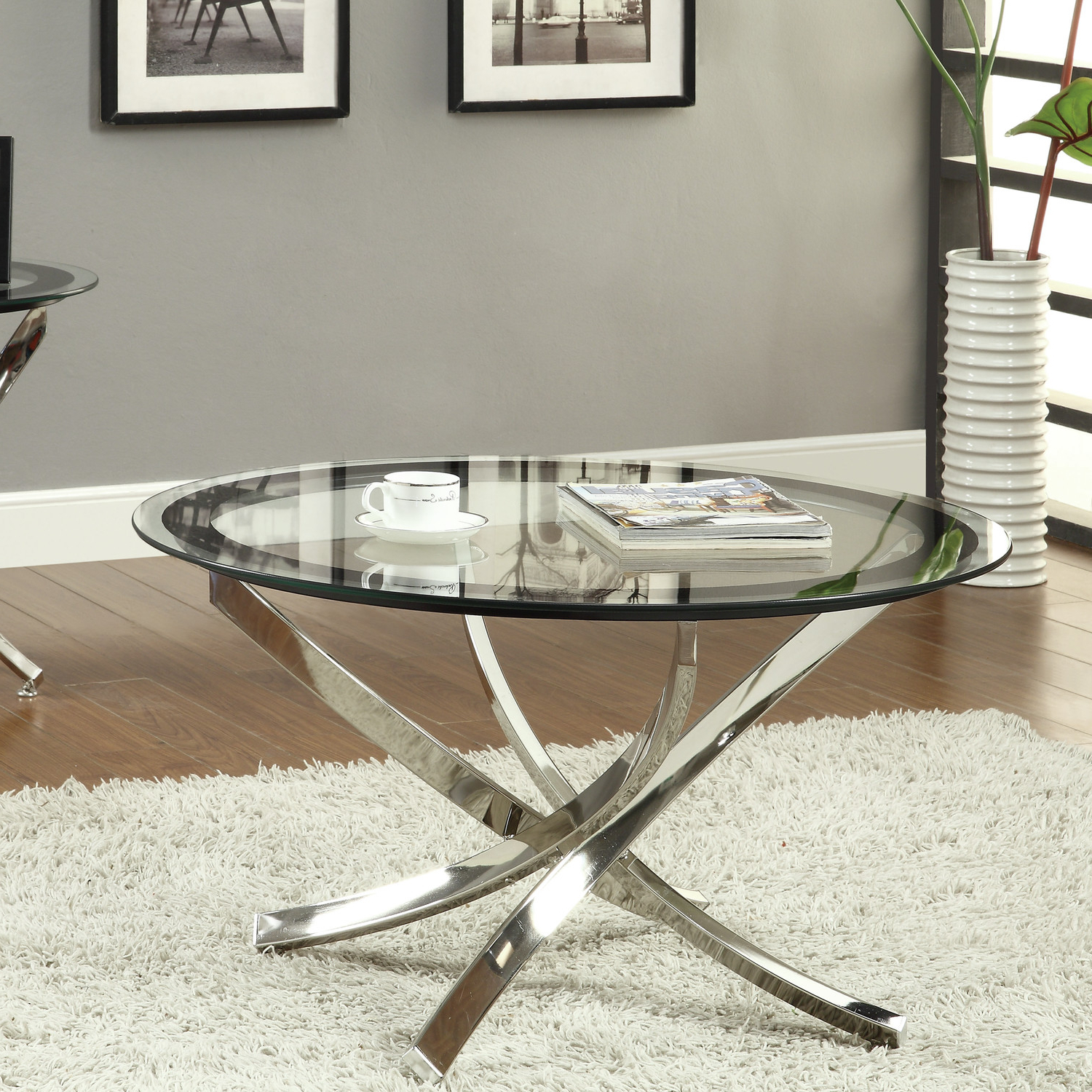 2019 Coffee Table Glass Top — Fossil Brewing Design : Round Metal Coffee In Torrin Round Cocktail Tables (View 4 of 20)