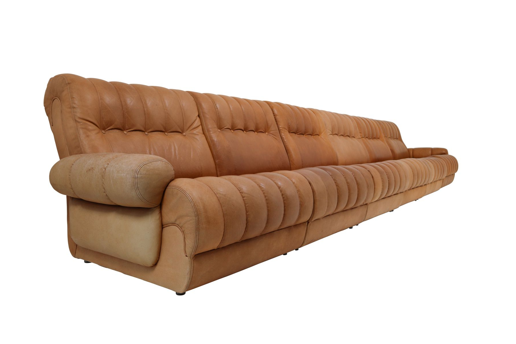 2019 Cognac Leather Sectional Sofa (Gallery 14 of 20)