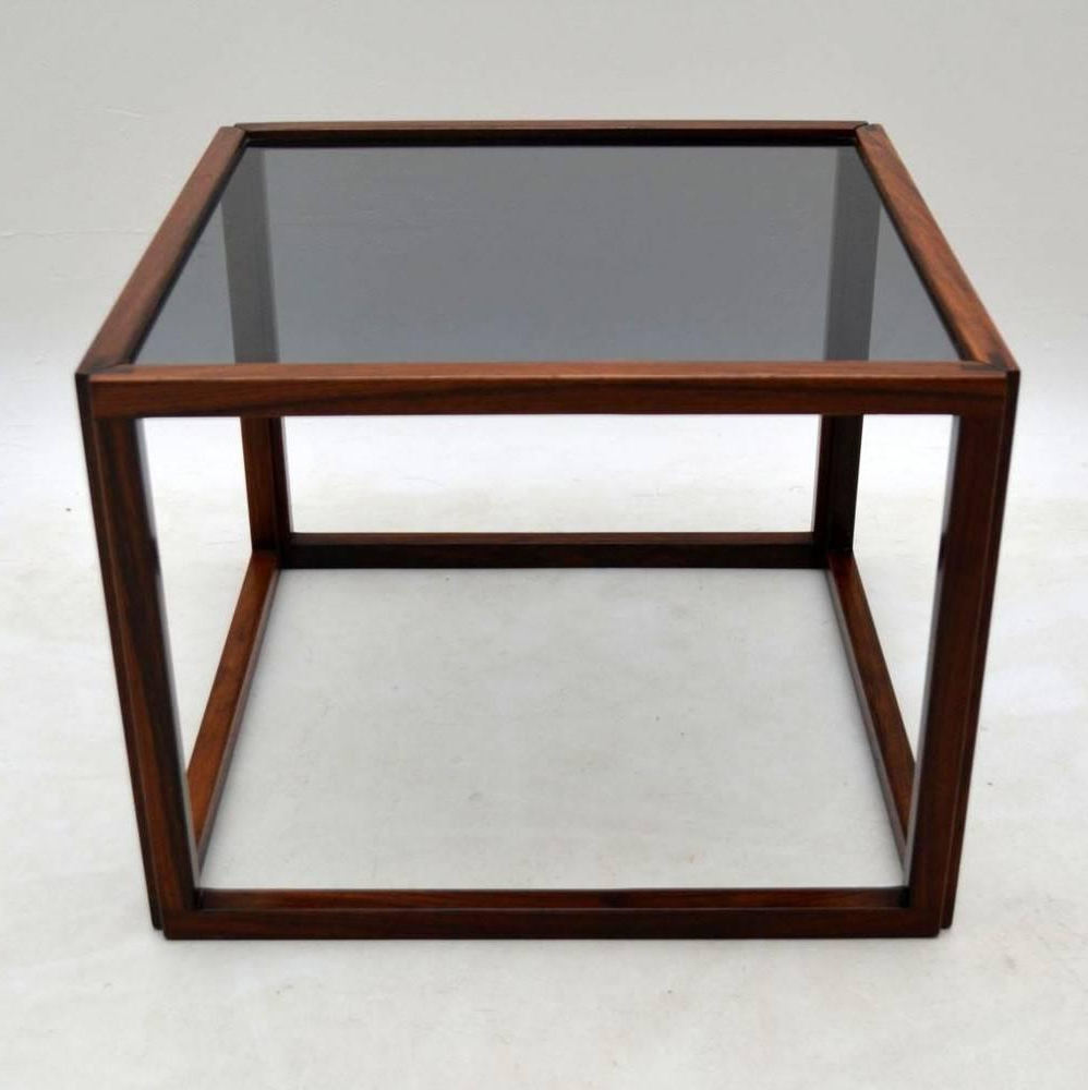 2019 Kai Large Cocktail Tables In Danish Retro Rosewood Cube Coffee Tablekai Kristiansen Vintage (View 2 of 20)