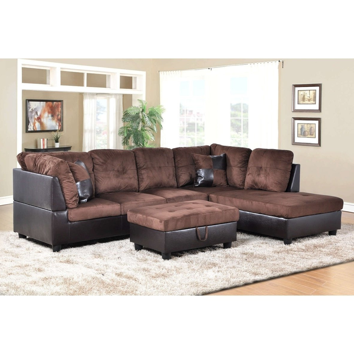 2019 Karen 3 Piece Sectionals Throughout Shop Golden Coast Furniture 3 Piece Microfiber Leather Sofa (View 1 of 20)