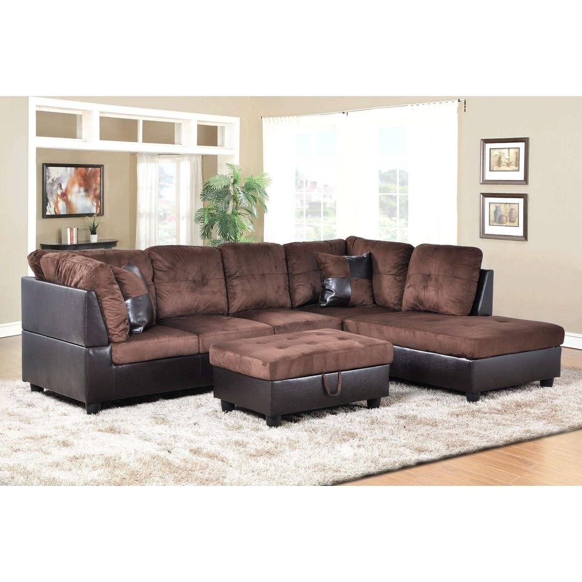 2019 Karen 3 Piece Sectionals Throughout Shop Golden Coast Furniture 3 Piece Microfiber Leather Sofa (Gallery 16 of 20)