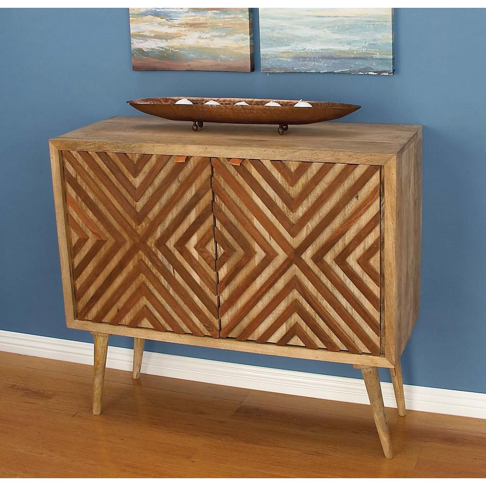 2019 Litton Lane Chevron Patterned Wooden Brown Cabinet 77675 – The Home Inside Brown Chevron 4 Door Sideboards (Gallery 17 of 20)
