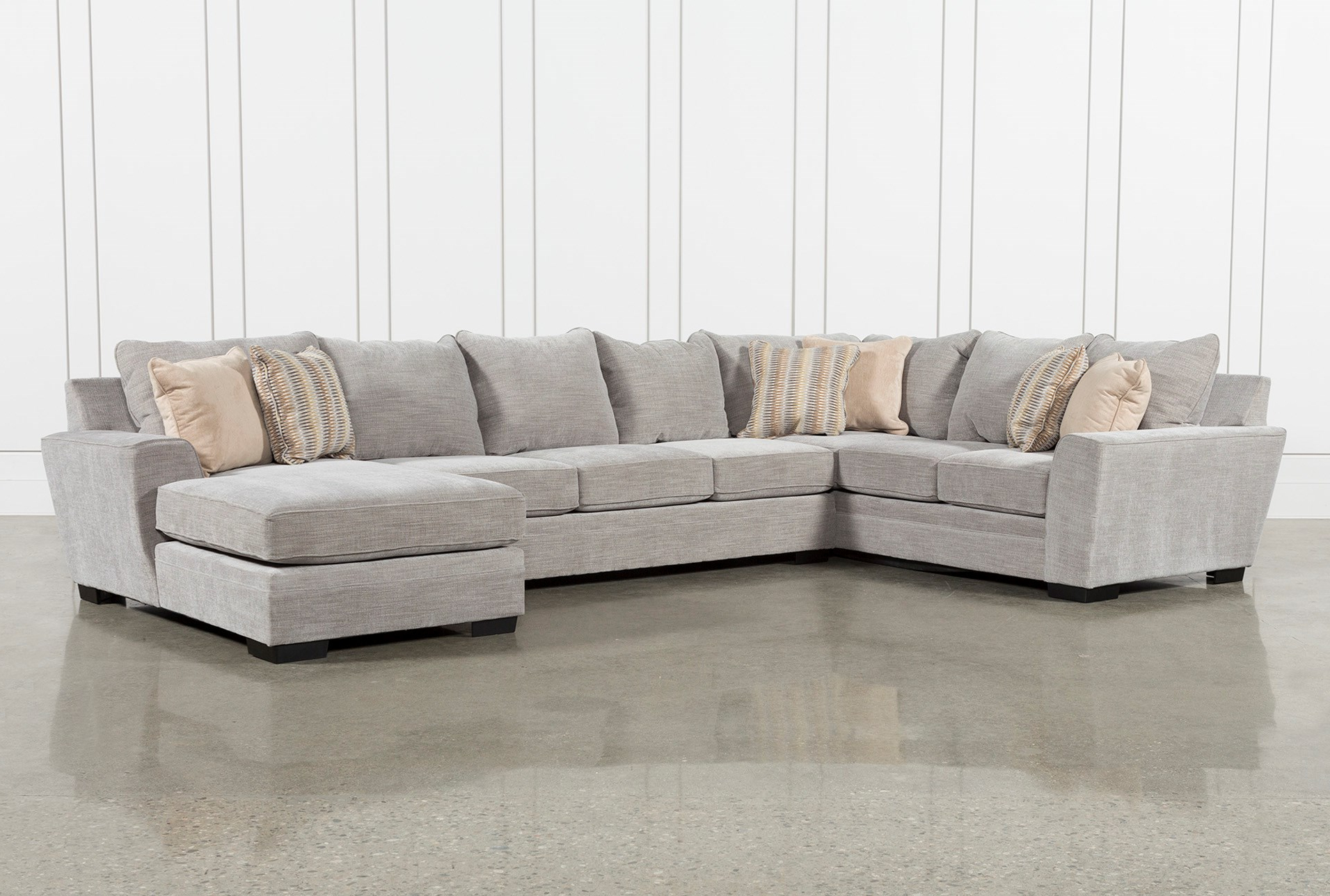 2019 Malbry Point 3 Piece Sectionals With Raf Chaise Intended For Delano Smoke 3 Piece Sectional Living Spaces – Locsbyhelenelorasa (View 3 of 20)