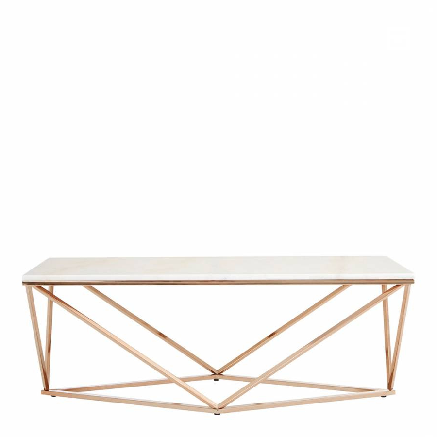 2019 Marble/champagne Gold Allure Rectangular Coffee Table – Brandalley Intended For Allure Cocktail Tables (View 2 of 20)