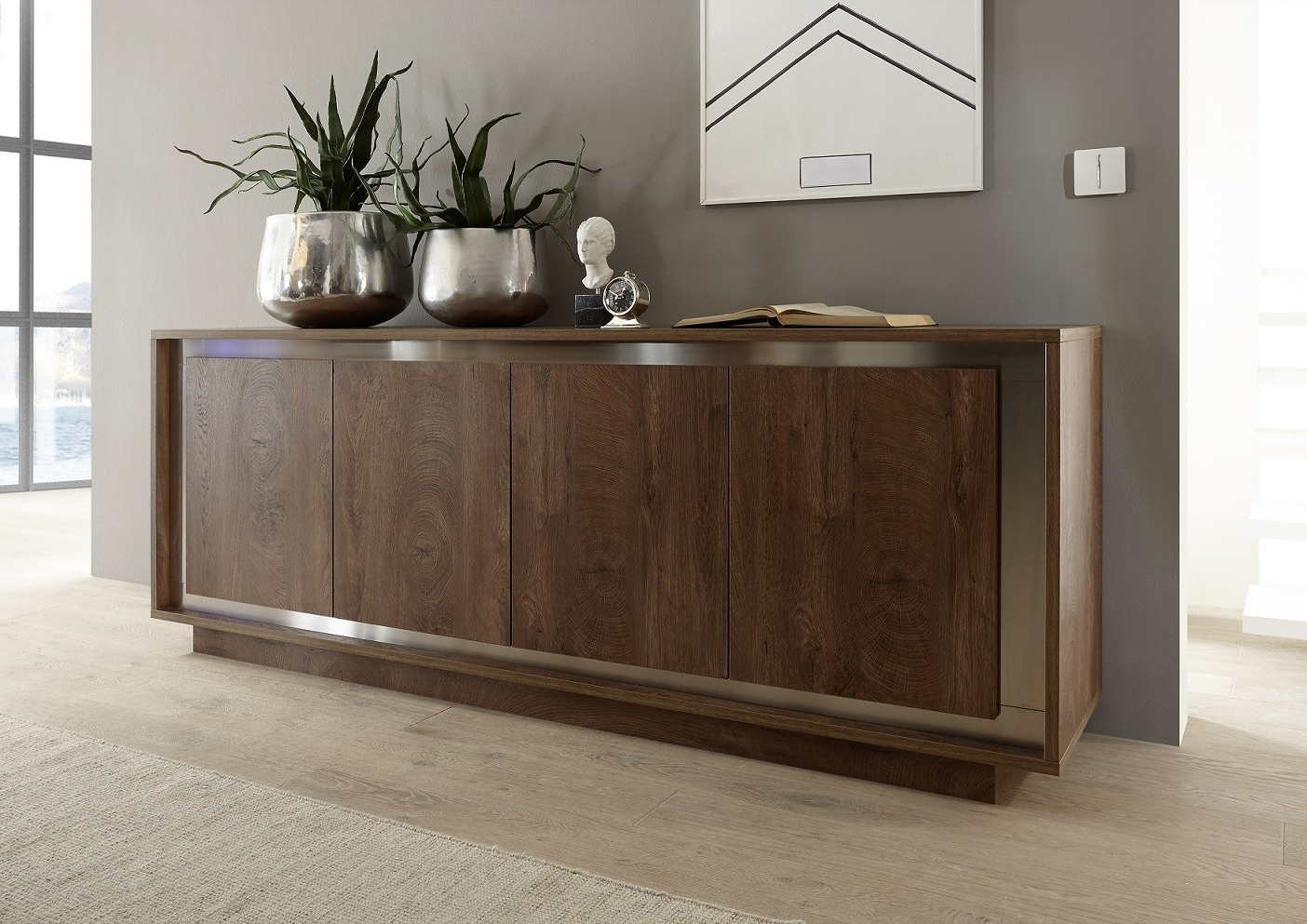 2019 Modern Sideboards Uk (82) – Sena Home Furniture Inside Walnut Finish Contempo Sideboards (View 2 of 20)