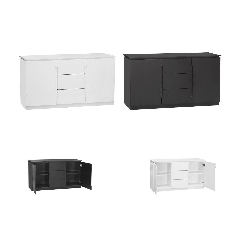 2019 Orb Living Room Furniture – Black Or White 3 Drawer 2 Door Large For Antique White Distressed 3 Drawer/2 Door Sideboards (Gallery 20 of 20)