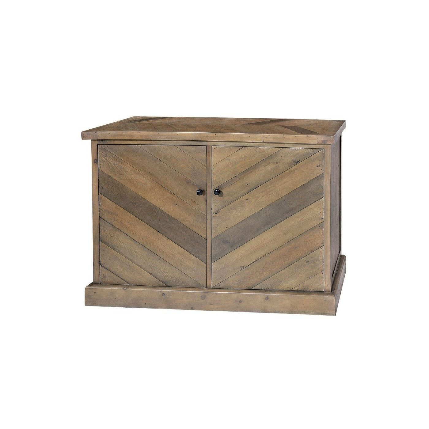 2019 Parquet Reclaimed Pine Small Sideboard (Gallery 11 of 20)
