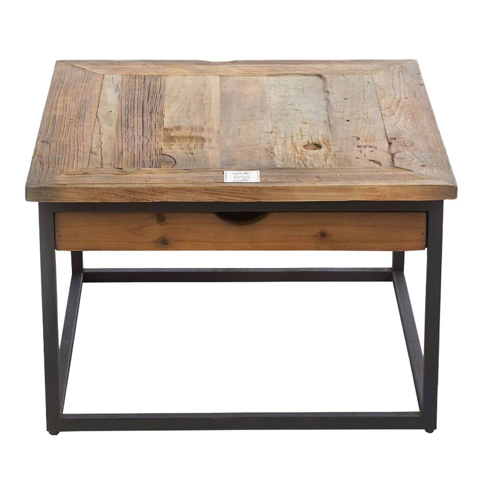 2019 Reclaimed Elm Iron Coffee Tables In Riviera Maison Shelter Island Coffee Table 60X60Cm (View 9 of 20)