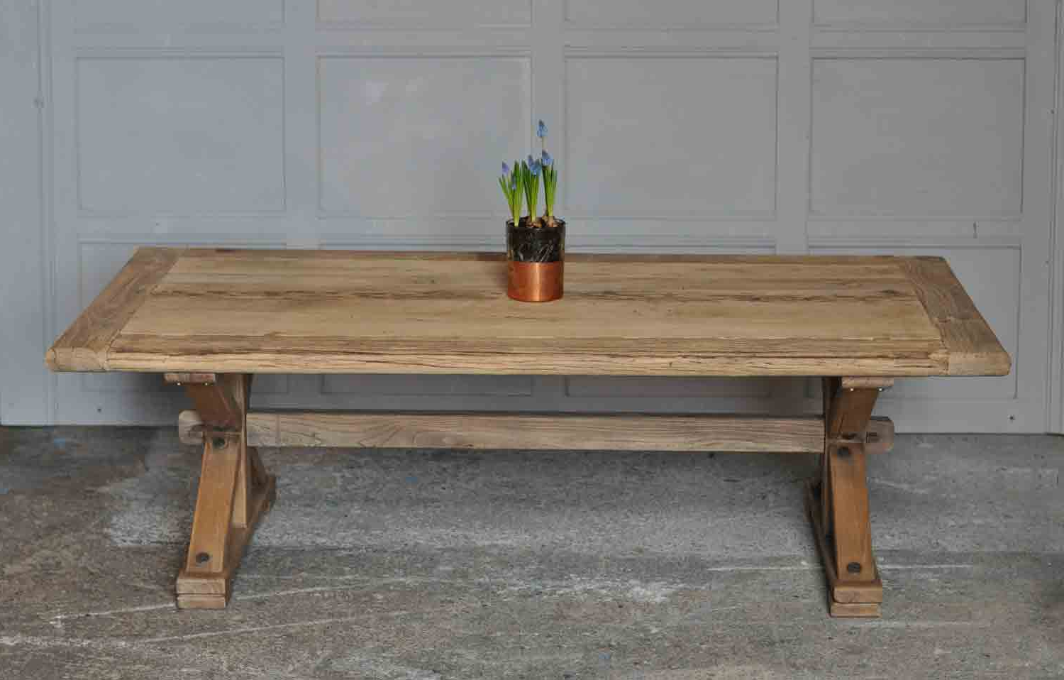 2019 Reclaimed Solid Elm Rustic Coffee Table – Home Barn Vintage Within Reclaimed Elm Cast Iron Coffee Tables (Gallery 8 of 20)