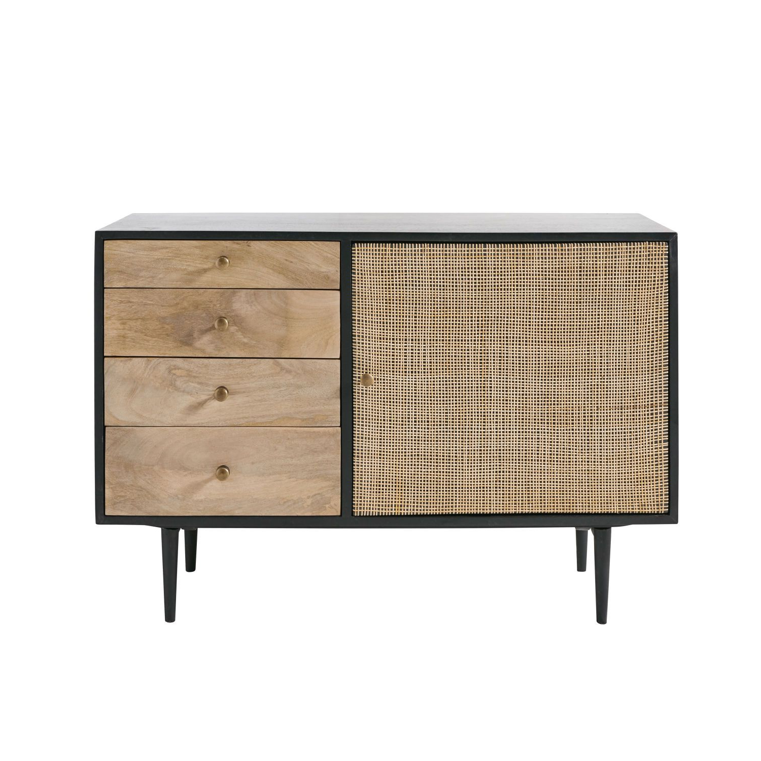 2019 Solid Mango Wood And Acacia 1 Door 4 Drawer Sideboard In 2018 Pertaining To Acacia Wood 4 Door Sideboards (View 3 of 20)