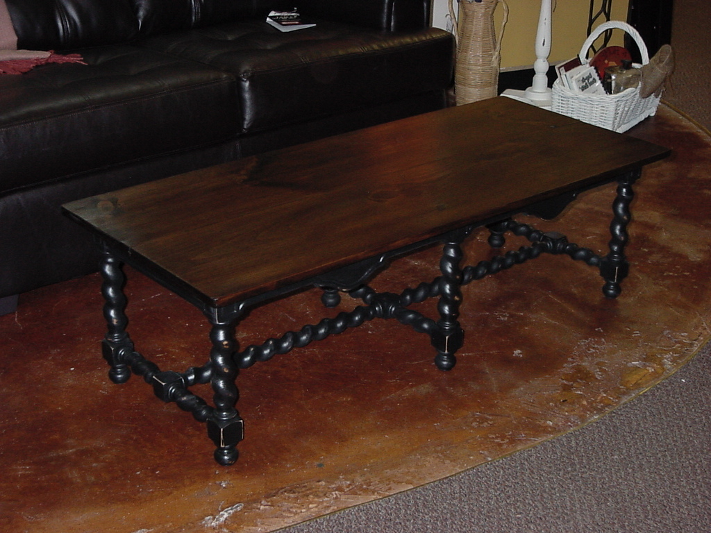 """2019 Stained Top Coffee Table On """"Barley Twist"""" Base (Approx: 24″ X 53 Regarding Barley Twist Coffee Tables (View 4 of 20)"""