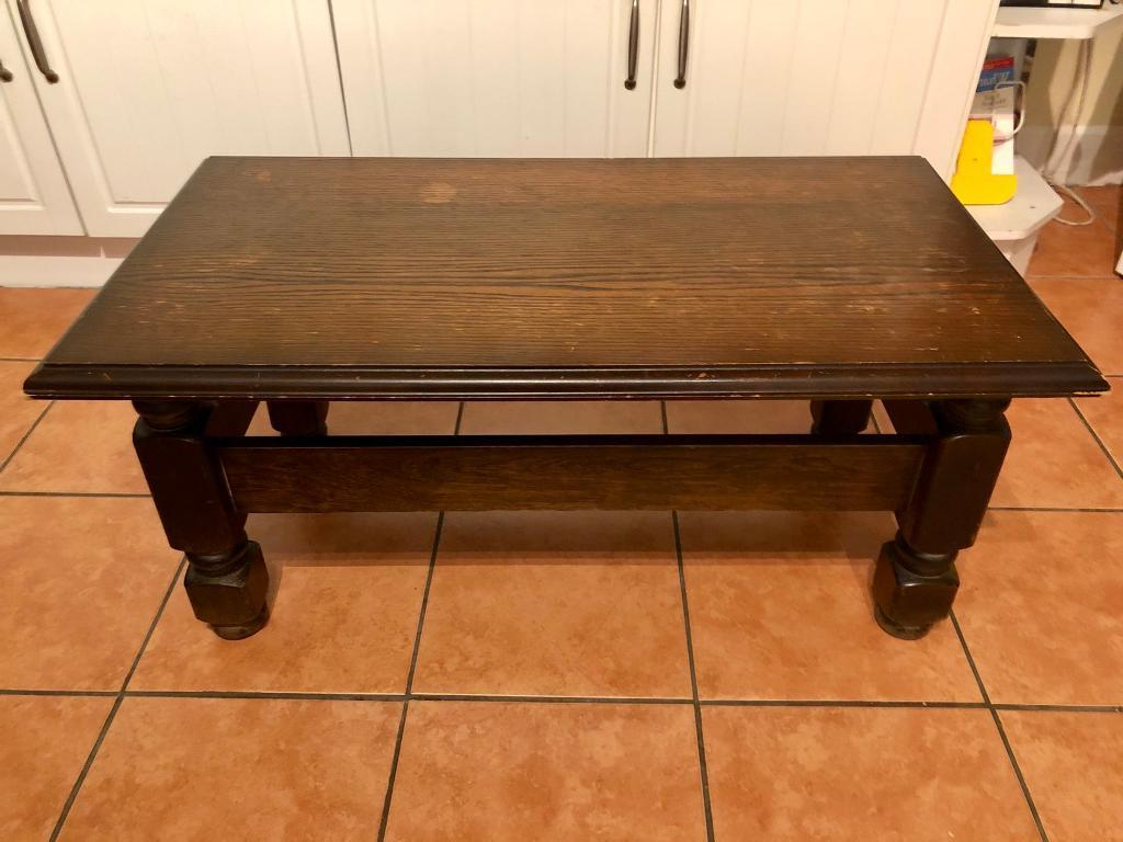 2019 Vintage Wood Coffee Tables Within Vintage Solid Wood Coffee Table Shabby Chic Retro Upcycle Project (View 1 of 20)