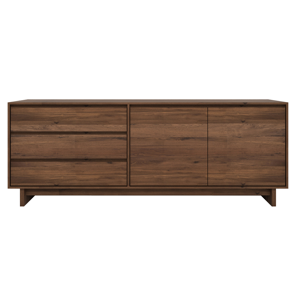 3 Drawer/2 Door Sideboards For Most Up To Date Wave Sideboard – 2 Doors 3 Drawers – Walnut – Rouse Home (View 1 of 20)